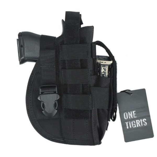 ONETIGRIS MOLLE TACTICAL PISTOL HOLSTER WITH MAG POUCH