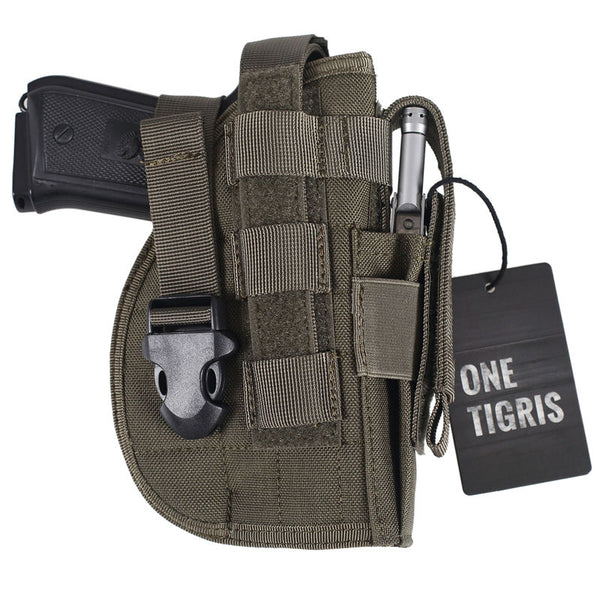 ONETIGRIS MOLLE TACTICAL PISTOL HOLSTER (for Right Handed Shooters)