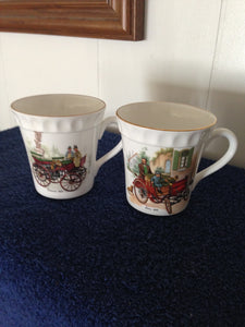 DAIMLER BENZ STAFFORDSHIRE MUGS MERCEDES BENZ