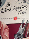 Watchmakers Of Switzerland Watch Inspection Sign