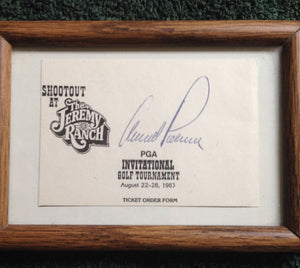 Arnold Palmer Autograph Collectible Signature