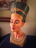 Egyptian Painted Bust Of Queen Nefertiti