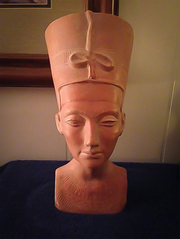 Egyptian Queen Nefertiti Bust From The Louvre Museum Paris France