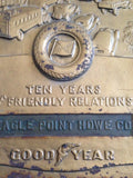 Goodyear Eagle Point Oregon Ten Years Of Friendly Relations Plaque