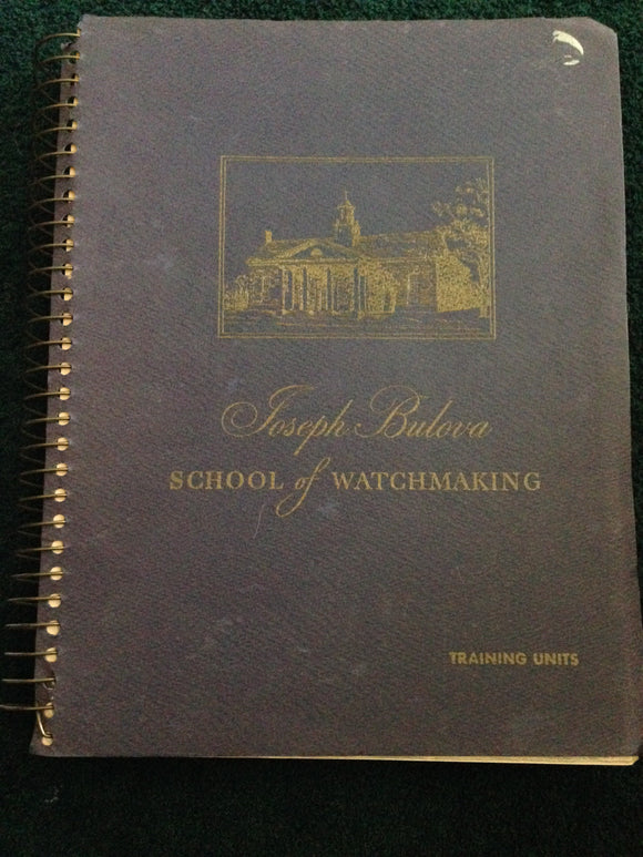 Bulova School Of Watchmaking Training Book