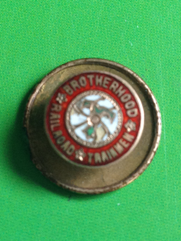 Brotherhood Of Railroad Trainmen Collar Pin