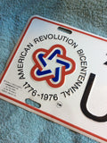 USA Bicentennial Official Commemorative License Plate.
