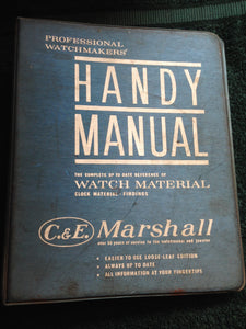 Professional Watchmakers Handy Manual Book