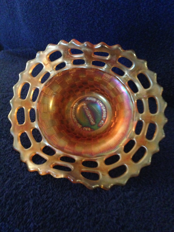 Carnival Glass Advertising Dish