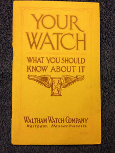 Waltham Watch Company Rare Booklet