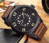 CURREN 8258 - MEN'S CASUAL SPORTS LEATHER QUARTZ WRISTWATCH