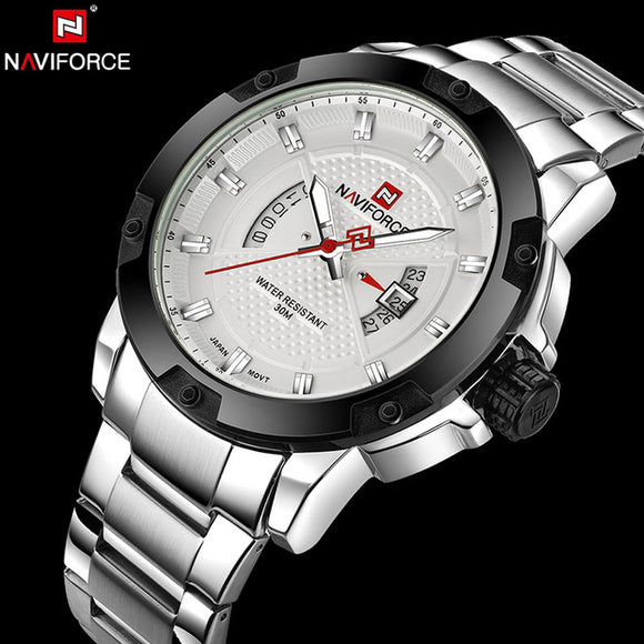 NAVIFORCE 9085S - MEN'S SPORTS MILITARY QUARTZ WATCH