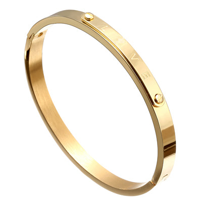 Women's Love Bangle Charms Bar Bracelet (170mm)