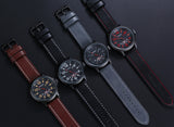 CURREN 8240 - MEN'S FASHION CASUAL LEATHER QUARTZ WRISTWATCH