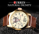 CURREN 8182 - MEN'S CASUAL SPORTS LEATHER QUARTZ WRISTWATCH
