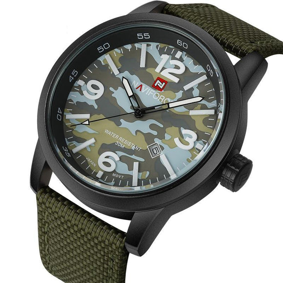 NAVIFORCE 9080 - MEN'S SPORTS MILITARY QUARTZ WATCH