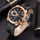 CURREN 8216 - MEN'S CASUAL SPORTS LEATHER QUARTZ WRISTWATCH