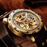 MEN'S RETRO CLASSIC FASHION SKELETON WRISTWATCH