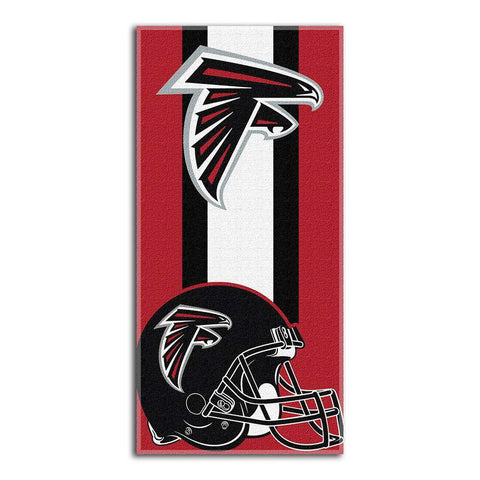 Atlanta Falcons Zone Red Cotton Beach Towel