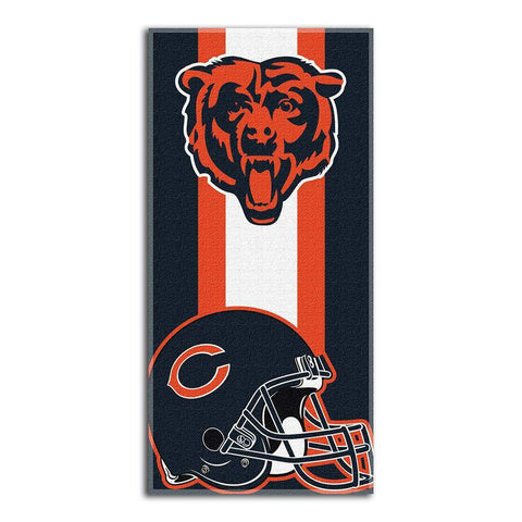 Chicago Bears Zone Red Cotton Beach Towel