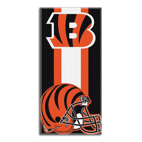 Cincinnati Bengals Zone Red Cotton Beach Towel