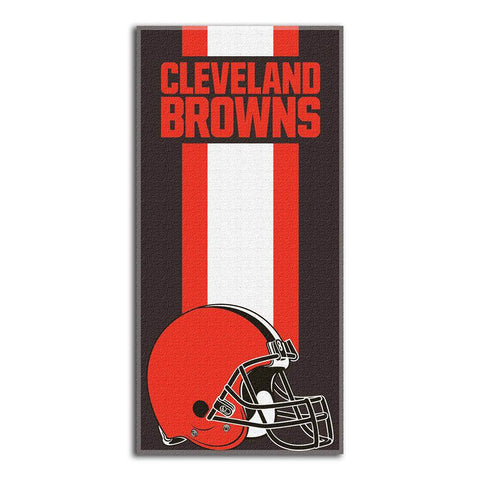 Cleveland Browns Zone Red Cotton Beach Towel