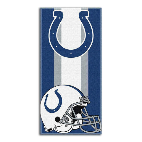 Indianapolis Colts Zone Red Cotton Beach Towel