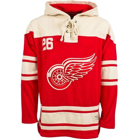Detroit Red Wings Old Time Hockey Home Lace Hoody