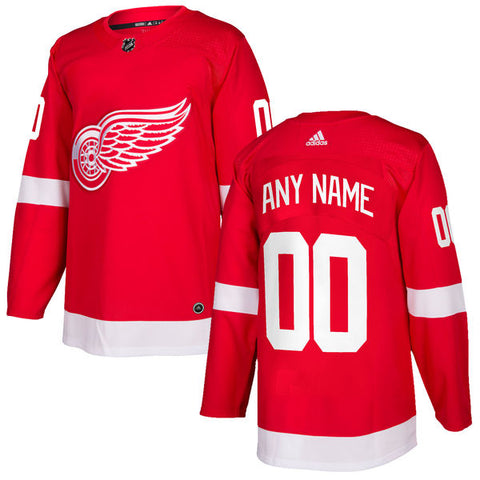 Adidas Detroit Red Wings Custom Home Jersey