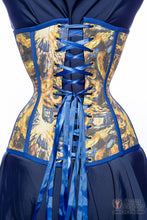 Van Gogh Exploding Police Box Long Line Corset