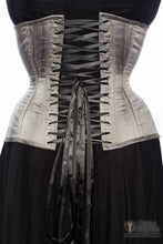Gunmetal Silk Long Line Waist-Training Corset