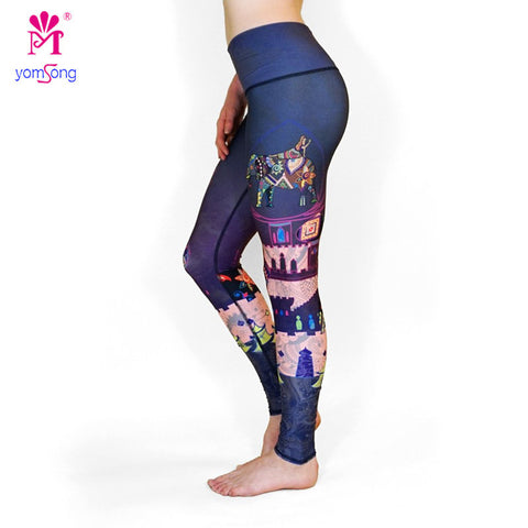Colorful Elephants Printed Legging