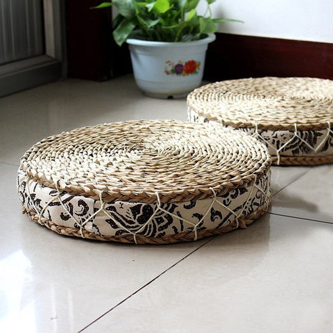 Tatami Natural Straw Floor Cushion