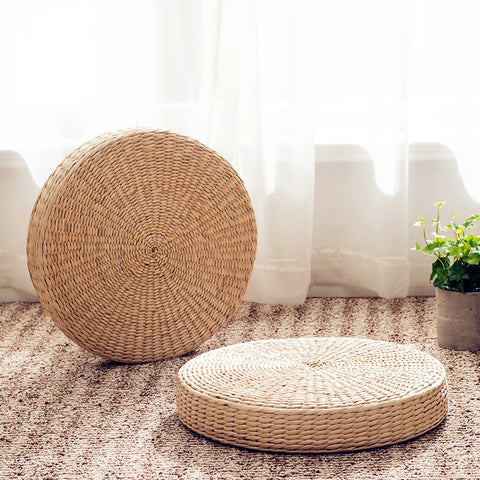Grass Rattan Japanese Meditation Cushion
