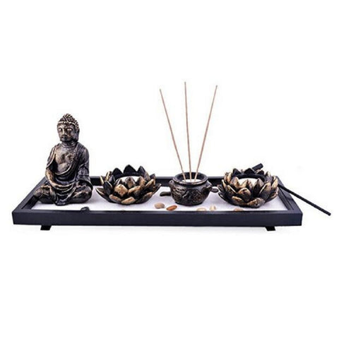 Feng Shui Zen Sand Garden with Incense Burner