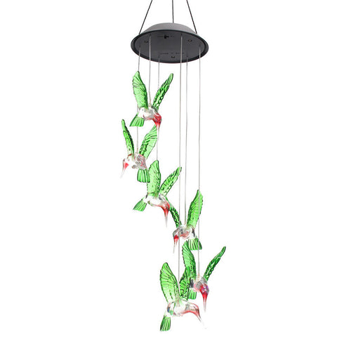 Solar Power Humming Bird Wind Chime