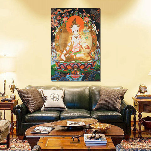 Tibetan Buddha Decorative Wall Hanging Embroidery