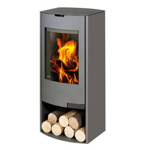 Aga Hadley 8kw Defra Stove With Log Store - Graphite