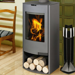 Aga Hadley 8kw Defra Stove With Log Store - Graphite  Regular price