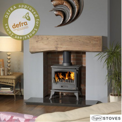 Tiger 6kw Defra Approved Wood Burning Stove Log Burner Multifuel Stove Wood Stove Store