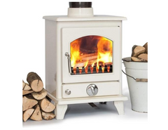 Ivory Enamel Coseyfire 5kw Contemporary Wood burning, Log Burner, Multi Fuel Stove