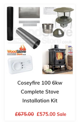 Coseyfire 100 6kw Complete Stove Installation Kit