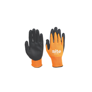 SWIPE TOUCHSCREEN NITRILE FOAM-COATED GLOVES ORANGE / BLACK LA