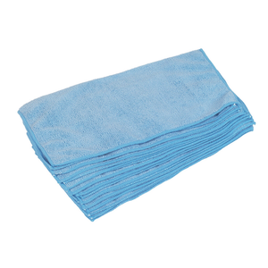 MICROFIBRE CLEANING CLOTHS BLUE 10 PACK