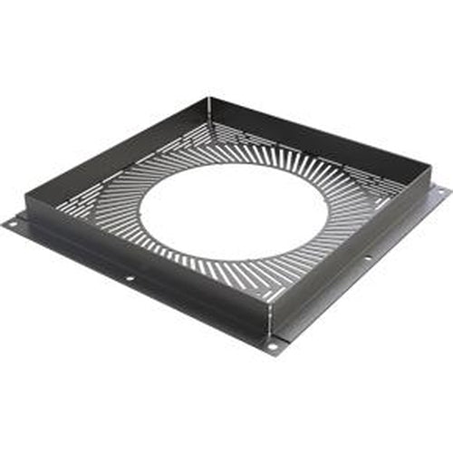 Ventilated Firestop Plate Ø 125 - BLACK
