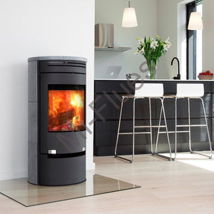 6kw Aduro 1-1SK with Drawer - Black Soapstone. Contemporary Wood burning, Log Burner, Multi Fuel Stove