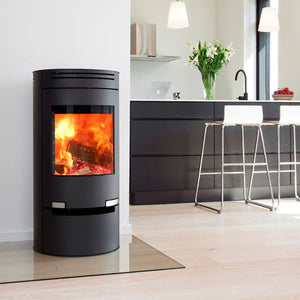 6kw Aduro 1-1 with Drawer - Black Contemporary Wood burning, Log Burner, Multi Fuel Stove