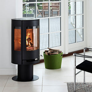 6kw Aduro 9-3 - DEFRA Black, Contemporary Wood burning, Log Burner, Multi Fuel Stove