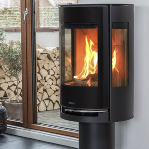 6kw Aduro 9-3 Lux - DEFRA Black, Contemporary Wood burning, Log Burner, Multi Fuel Stove