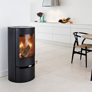 6kw Aduro 9 - 1 DEFRA Black, Contemporary Wood burning, Log Burner, Multi Fuel Stove